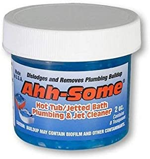 Ahh-Some- Hot Tub Cleaner | Clean Your Pipe & Jets Gunk Build Up | Clearer & Softer Water For Jacuzzi, Jetted Tub, or Spool Quickly & Efficiently | Top Water Clarifier (2oz.)