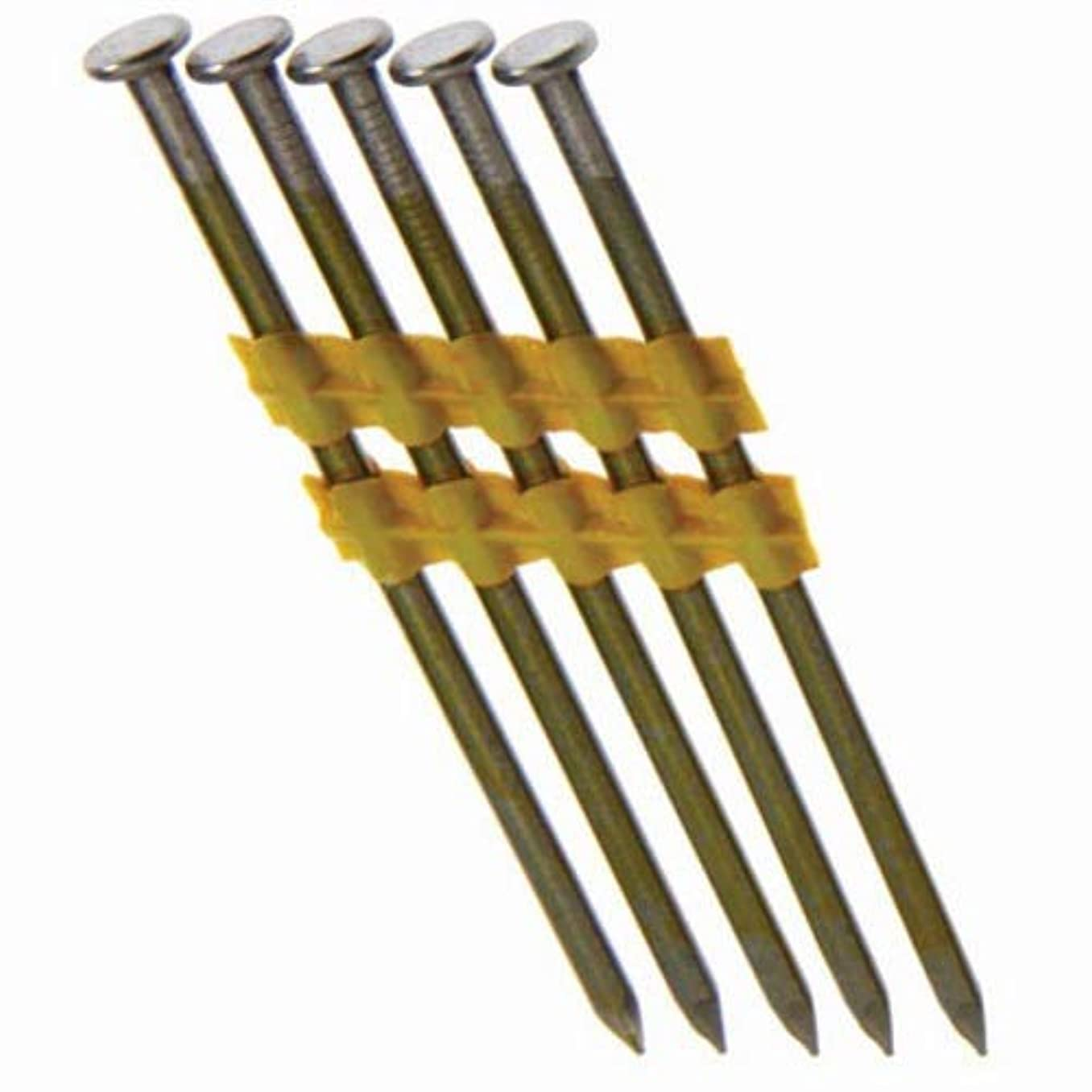 Grip Rite Prime Guard GR014L 21-deg Bright Plastic Strip Round Head Nails, Smooth 3-inch by .131 (4,000-pk), Steel