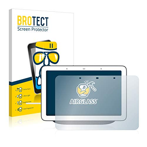 BROTECT Protector Pantalla Cristal Compatible con Google Nest Hub Protector Pantalla Vidrio Dureza 9H AirGlass