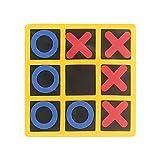 Tic Tac Toe Brettspiel, 15,2 x 15,2 cm, EVA-Tisch-Familien-Strategie-Brettspiel für Erwachsene und Kinder