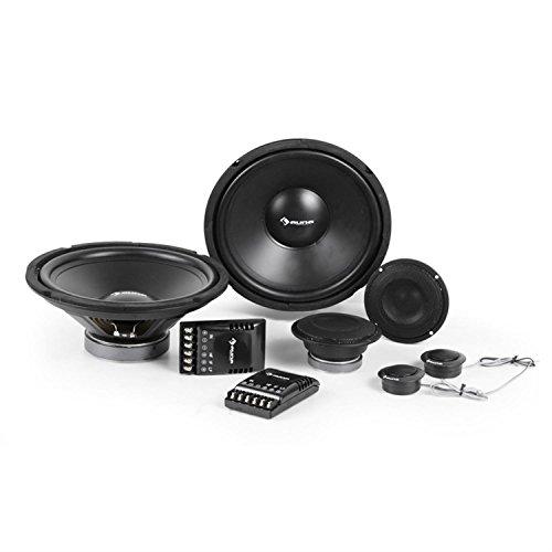 auna CS-Comp-12 - Car-HiFi-Komplett-Set, Auto Boxen, Auto Lautsprecher System, Einbau-Lautsprecher, 2x30 cm-Subwoofer, 2x10 cm-Mitteltöner und 2x4 cm-Dome-Tweeter mit Metall-Abdeckung, schwarz