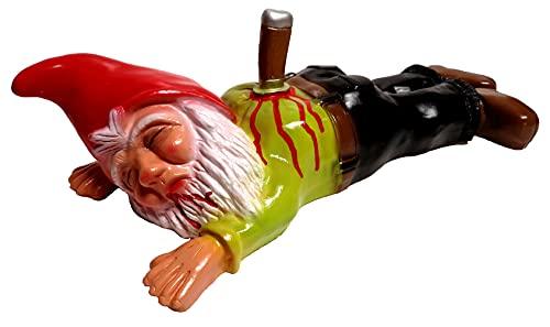 Rakso Oskar Schneider GmbH & Co. KG Gartenzwerg erstochen 40cm lang aus bruchfestem PVC Figur Made in Germany für den Garten