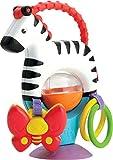 Fisher-Price Mon zèbre d'activités jouet d'éveil bébé sur ventouse, anneaux, papillon suspendu, textures et sons de hochets, dès 3 mois, FGJ11