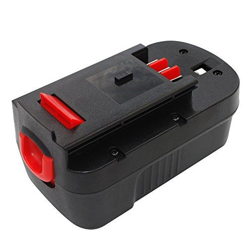 TURPOW 18V NiCd Replacement Battery for Black&Decker HPB18 HPB18-OPE 244760-00 Firestorm Fsx-treme FSB18 FS18C FS18BX FS180BX, 18V Battery Pack for Black and Decker Cordless Power Tool