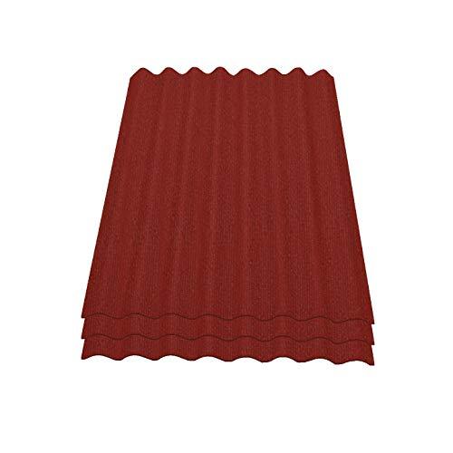 Onduline Easyline Dachplatte Wandplatte Bitumenwellplatten Wellplatte 3x0,76m² - rot