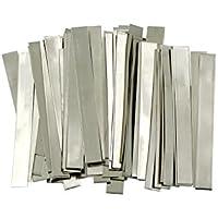 Tira de níquel puro: 0,15 x 6 x 50 mm, 50 unidades, 99,6% níquel para batería de litio de alta capacidad, Li-Po, NiMh y NiCd, batería y soldadura por punto, un EE. UU. Producto sólido