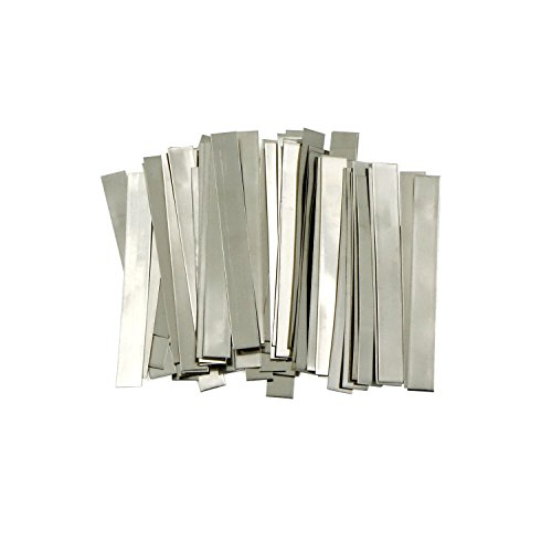 U.S. Solid Streifen aus reinem Nickel, 0.15x6x50mm 99,6 % Nickel für 18650 Löt-Anschluss für Lithium-Hochleistungsbatterie, Li-Po Akku, NiMH und NiCd Akku und Punktschweißen, 50 Count