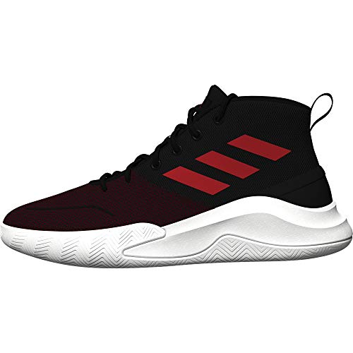 adidas OWNTHEGAME, Zapatillas de Baloncesto Hombre, NEGBÁS/Rojint/FTWBLA, 39 1/3 EU