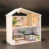 Puppenhaus Holz Möbel Puppenhausmöbel DIY Antike Architektur mit LED-Lichtern Der einzigartige mit...