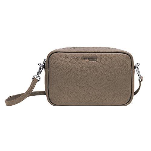 CHI CHI FAN Missy Mini Bag Stone | Damen Clutch aus echtem Leder | Top Qualität und Design treffen auf maximale Funktion | Perfekt für Alltag und besondere Anlässe | Platz für Handy, Schlüssel etc