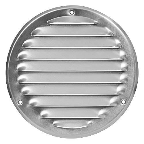 Ø 100mm Aluminium Lüftungsgitter mit Insektenschutz Rund Metall Gitter Außenmaß: 140mm