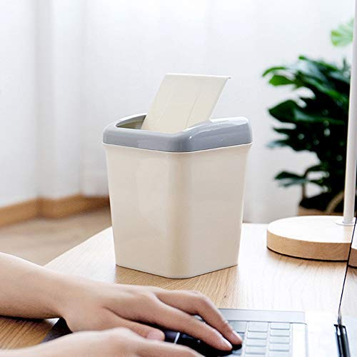 Housekeeping Organizers Onsales 2020 New Mini Desktops Mini Creative Covered Kitchen Living Room Trash Can White Halloween Decorations Gifts