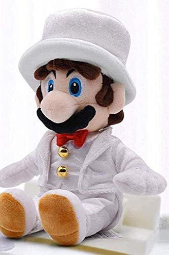 SongJX-Love Plüsch Super Mario New Super Mario Brautkleid Princess Biggie trägt eine Hochzeitskleid-Plüschpuppe-Puppe.Dekoration Gzzxw