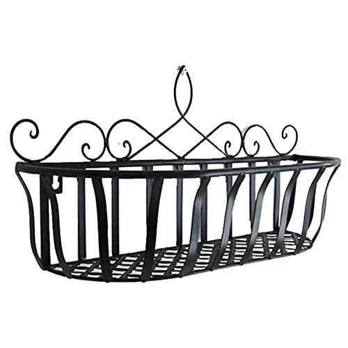 QKFON Cesta de almacenamiento de hierro europea en maceta, de alambre de metal, para colgar macetas de...