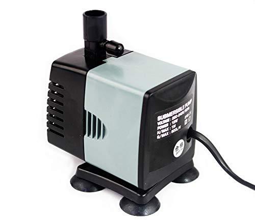 1MI Store Bomba de Agua Sumergible para Pecera, Acuario, 3 en 1, Filtración, Oxigenación y Bomba. (12W, 600L/H)