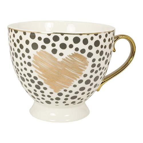 Mea Living Tasse mit Goldhenkel im Geschenkekarton Herz