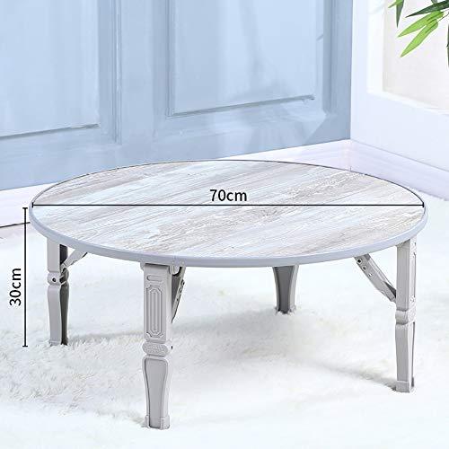 Yajun Table Plateau De Lit avec des Jambes Pliantes Ordinateur Portable pour La Maison Bureau pour Ordinateur Support pour Lap étanche,Gray,Circle
