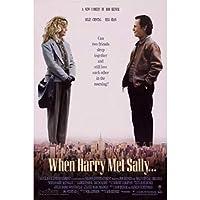 ハリーがサリーに会うとき映画アートポスター壁アート画像キャンバスポスターとプリントHDプリント油絵壁画リビングルーム家の装飾フレームレス絵画