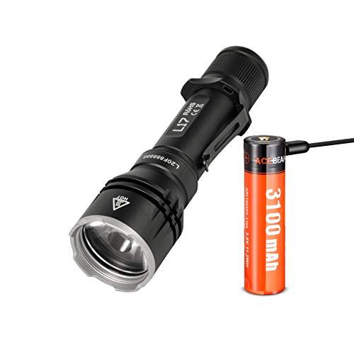 ACEBEAM L17 1400 Lumen 802m Batterie Langstreckenwurf Jagd taktische wiederaufladbare Taschenlampe - weiß