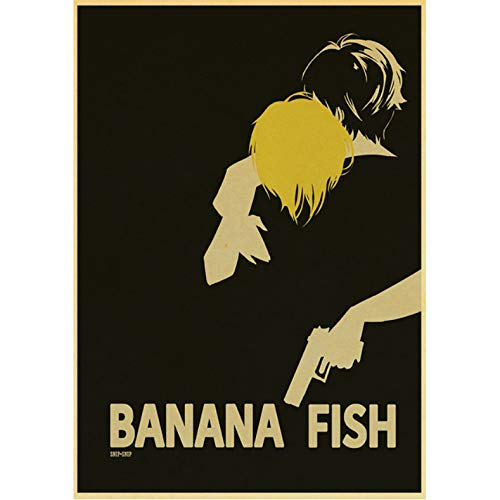 Miss Tian Leinwand Malerei Anime Bananenfisch Poster Geeignet Für Zuhause/Schlafzimmer/Bar Dekoration Wandkunst Wandbild Rahmenloses Bild 50X70Cm,A525