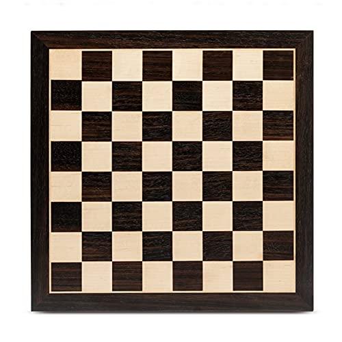 LTCTL ajedrez Tablero De Ajedrez De Madera con Diseño Antideslizante con Incrustaciones De Madera De Caoba Y Madera De Arce Tablero Juego de ajedrez (Color : Chess Board Only B)
