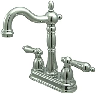 "Kingston Brass KB1491AL Bar Faucet without Pop-Up Rod, 4-3/4"", Polished Chrome"