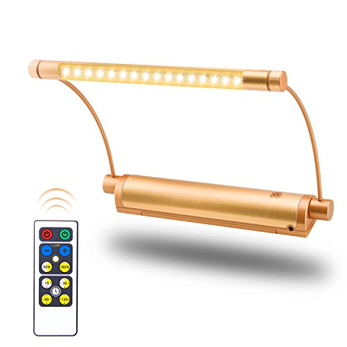 HONWELL Picture Light Wireless Display Lights Battery Powered LED Accent Lights Remote Controlled Uplight Artwork Lighting, Swivel Lamp Head with Timer Dimmer, Stick Art Lights for Painting Frame Art Deco Swivel Lamp