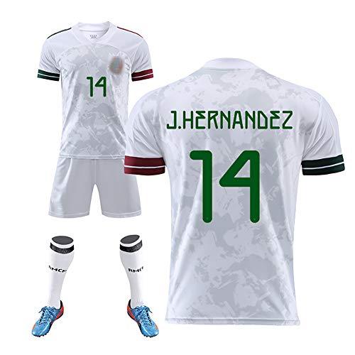 GWCASA 2020 Mexico Jersey13# Magana Soccer Uniform Niños Adultos Camiseta de fútbol Pantalones Cortos Calcetines Kits -14#-M