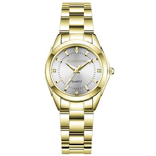 RORIOS Reloj de Mujer Analogico Cuarzo Reloj con Correa en Acero Inoxidable Impermeable Moda Relojes de Pulsera para Mujeres Elegante Vestir...