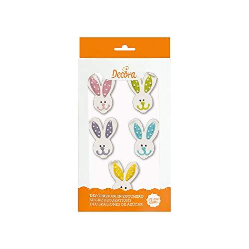 kit Faccia CONIGLIO coniglietti in zucchero decorazione torte e dolci pasquali
