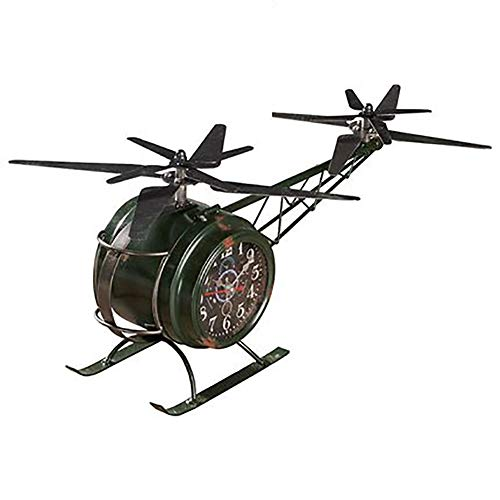 Handwerk, sieraden industrieel smeedijzer Wind Vintage Aircraft Desktop Bar Boekenkast werd gezet Off Creative Crafts,Green
