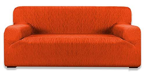 tex family COPRIDIVANO Elasticizzato Vienna Universale Arancio (4 POSTI cm. 180-230)