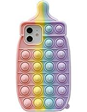 iPhone 11 Pro 対応 可愛い ケース, CrazyLemon 新型 おしゃれ 面白い かわいい 虹色 ボトル デザイン ポップ 指先のおもちゃ ケース ソフト シリコン 耐衝撃 全面保護 ストレス 解消 大人 子供 適用 - 16