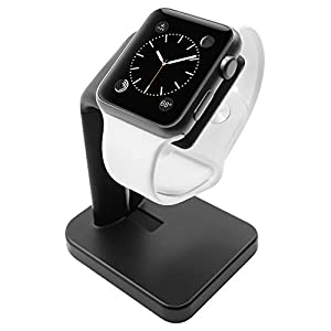 Macally Stand for iWatch - The Perfect Nightstand Charging Dock Station - Compatible with Smartwatch Series 5, Series 4… 7 41GLaPUHaNL. SS300