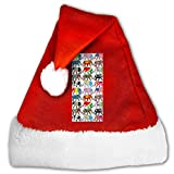 BAGR Gorro de Papá Noel Unisex Fiestas de Vacaciones, Eventos, Elefantes y Bandera, para Adultos y niños, Perros y Mascotas, Rojo, Small