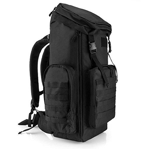 Zaino Unisex 70-85L Tattico Militare Outdoor Sport Backpack per Viaggio Escursionismo Campeggio Alpinismo,Nero