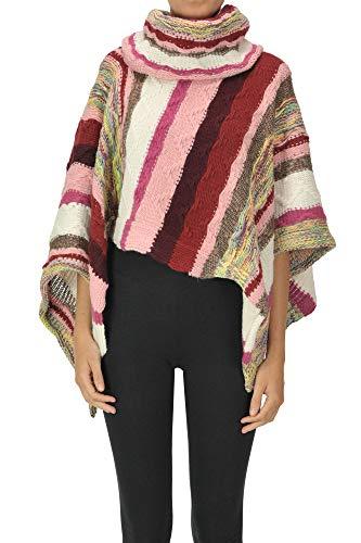 Missoni Textured Knit Poncho Woman Multicoloured unica int.