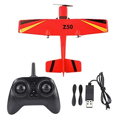 Avión Planeador RC, 2.4G ZC-Z50 Planeador Teledirigido Aviones de Control Remoto Espuma EPP Ala Fija, Avión RC Aviones de Juguete para Adultos Niños Principiantes, Juguete Modelo de Avión(Rojo)