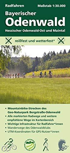 Radfahren, Bayerischer Odenwald / Hessischer Odenwald-Ost und Maintal: Maßstab 1:30.000; reißfest und wetterfest; Mountainbike-Strecken des ... Odenwaldklubs; UTM-Koordinaten für GPS-Nutzer