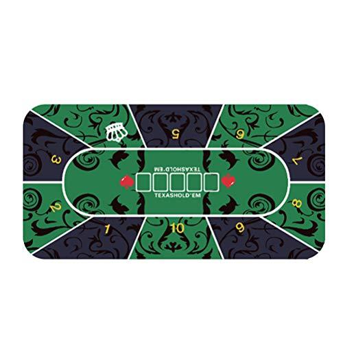 Alfombrilla de póker, Tablero de Goma para Mesa de póquer con Estampado...