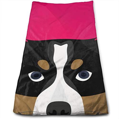 YudoHong Perro Bernese Mountain Dog Toallas de Mano Grandes, Altamente absorbentes, Suaves