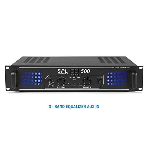 Skytronic - SPL500 DJ Disco PA Verstärker 500 W
