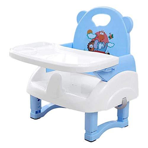 Mjiands klappbarer Säuglingsfütterungssitz mit abnehmbarem Futtertablett Tragbarer Baby-Sitzerhöhungssitz zum Füttern des Hochtisches
