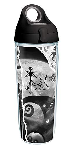 Tervis Disney - Nightmare Before Christmas Insulated Tumbler, 24oz Water Bottle - Tritan, Torn Collage
