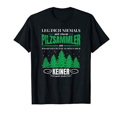 Pilzsammler T-Shirt Pilze sammeln Herren Damen Schwammerl T-Shirt