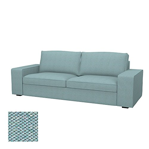 Soferia - IKEA KIVIK Funda para sofá de 3 plazas, Nordic Sea Green