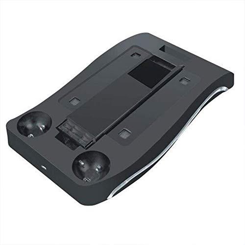 VR Gafas Auricular Stand 4 en 1 de múltiples Funciones de la estación de Carga con el sostenedor de la luz Ambiental LED para PS4 VR PS Move,Negro