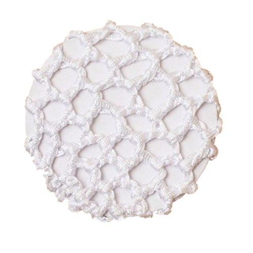 Filet à chignon avec ruban blanc noué pour filles 10 cm – Danse et ballet