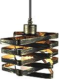 Zenghh Feuilles en métal Cage Suspendu au plafond Lumière d'éclairage antique cordon de fil d'éclairage Montage Ombre Rétro Edison Accessoires Bar Loft Cave à vin Villa Cuisine Couloir Escalier Aisle