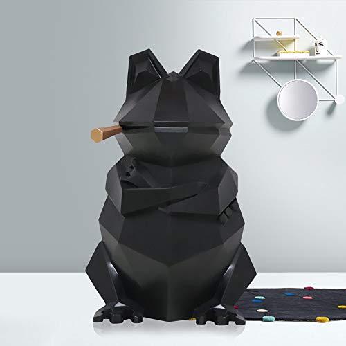 Figura,Figuras,Estatuas,Estatuillas,Esculturas,Estilo Animal Nordic Geométrica Rana De Origami Home Decoración De Arte De Salón Dormitorio Oficina Artesanía,Negro